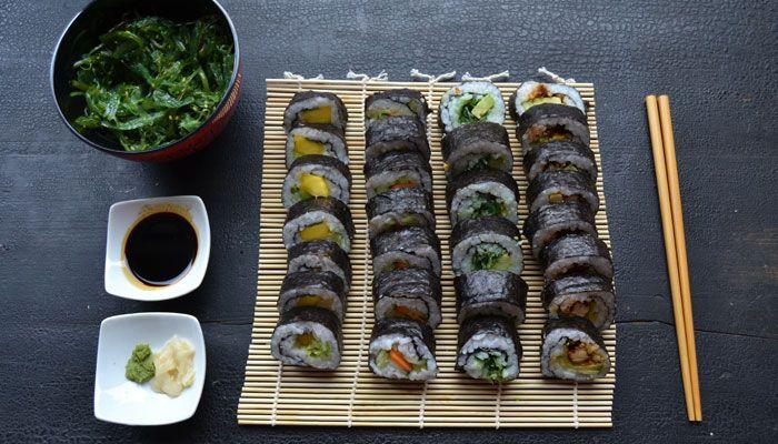 Homemade vegan sushi recept
