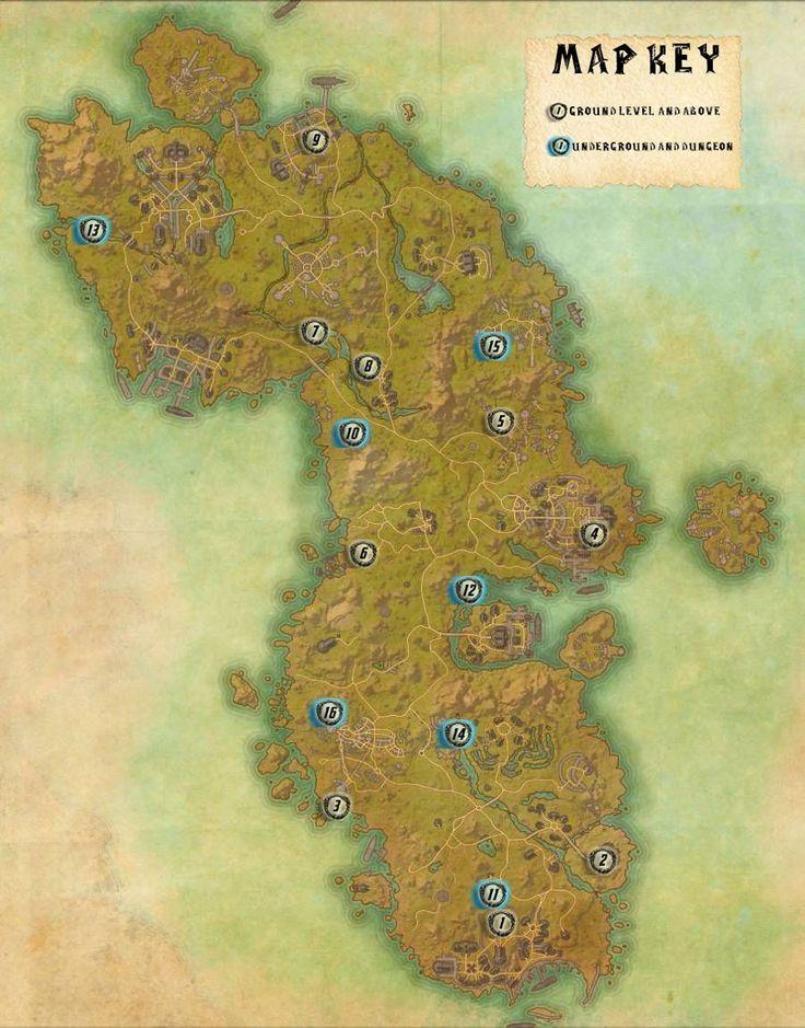 elder scrolls online map of shards   Home All Posts Game ...