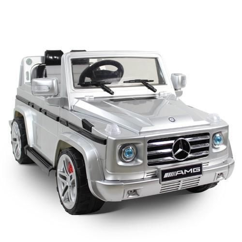 licensed mercedes benz g55 amg kids ride on power wheels battery toy car silver more power wheels ideas