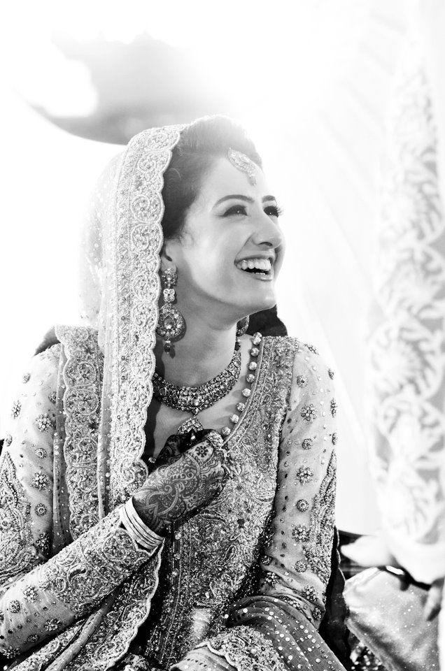 pakistani bridal wear - long sleeves - everyone loves a happy bride! :)