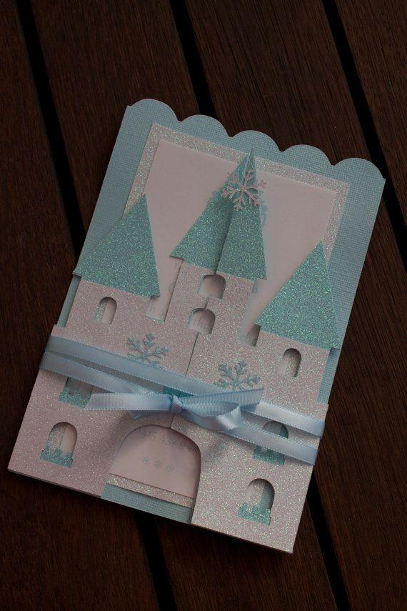 Set of 12 Frozen Castle Invitations  Princess by PoshMyParty, $75.00