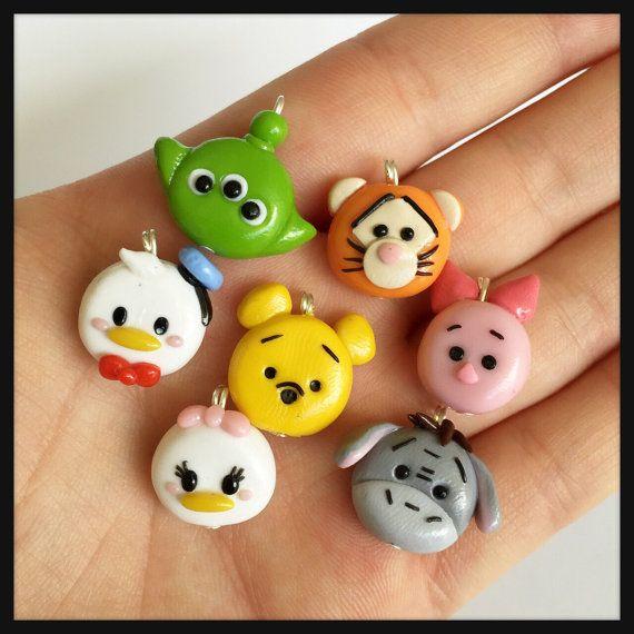 Tsum Tsum Charm Polymer Clay Kawaii Choose One by DaCraftyLilninja