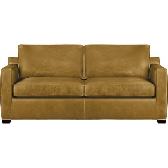 Modern Sectional Sofas Shop Davis Leather Queen Sleeper Sofa with Air Mattress