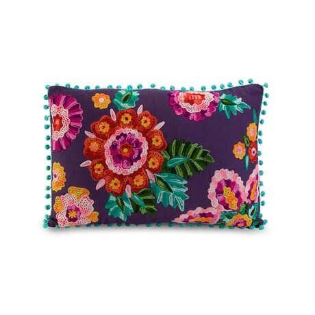 Cojin bordado floral