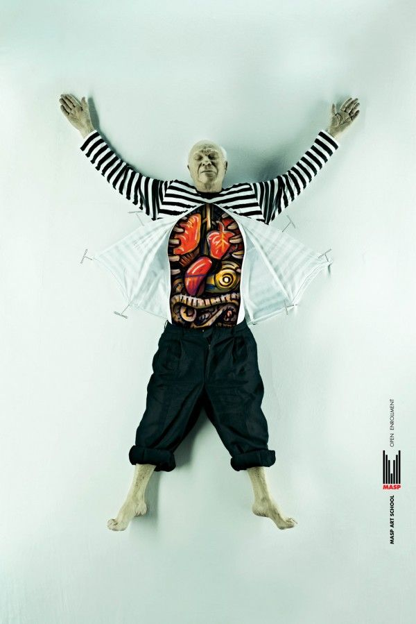 Famous Artists Dissected for MASP Art School Ad Campaign | Trendland: Fashion Blog & Trend Magazine - via http://bit.ly/epinner