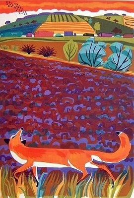 fox and landscape, by carry akroyd on John Clare Weblog: July 2009