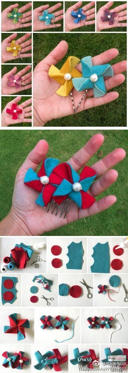 DIY Windmill Hairpin