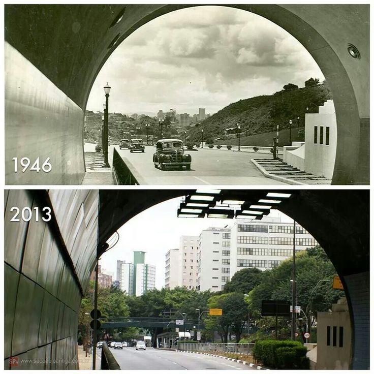 1946 e 2013 - A visão a partir do Túnel 9 de Julho, 67 anos depois...