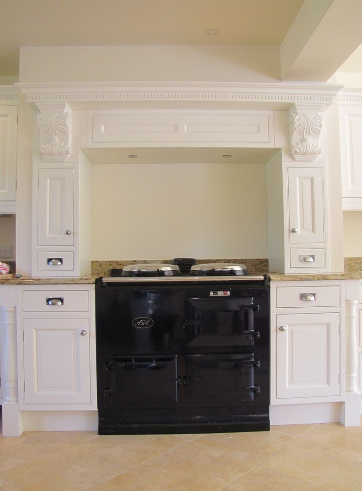 CRP Carpentry - InFrame Range. Custom made mantle over the classic Aga @agacookers