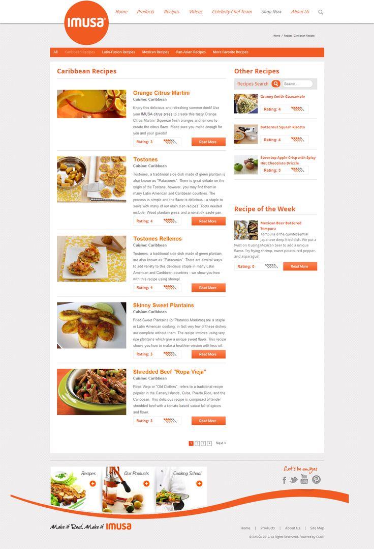 ImusaUSA.com category recipies