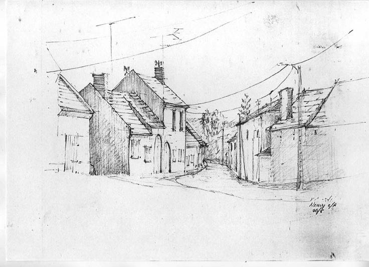 holiday sketchbook France, Eduard Moes