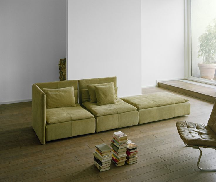 Modular Sofa SHIRAZ By Philipp Mainzer And Farah Ebrahimi In Suede Leather.  / Www.