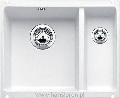 Subline 350/150-U Blanco zlewozmywak ceramiczny podblatowy 396x525 korek automatyczny biały połysk - 514529  http://www.hansloren.pl/