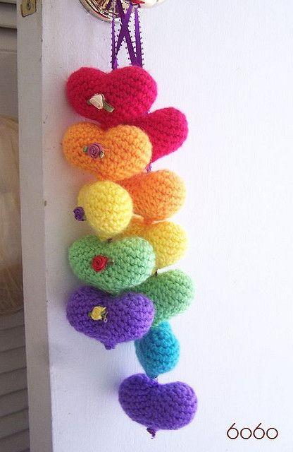 Crochet hearts <3