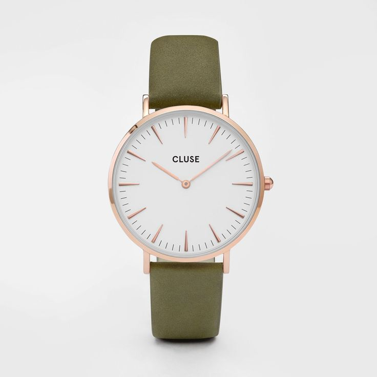 La Bohème Rose Gold White/Olive Green
