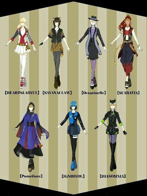 imagenes twisted wonderland wonderland clothes anime outfits disney inspired fashion