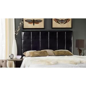 Safavieh Quincy Black Queen Headboard MCR4044B-Q at The Home Depot - Mobile