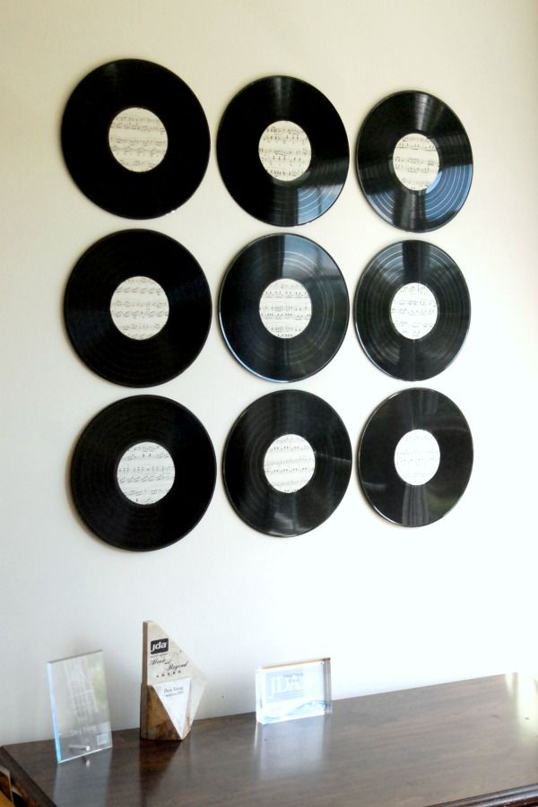 25 best record wall art ideas on pinterest record wall for Vinyl record wall art