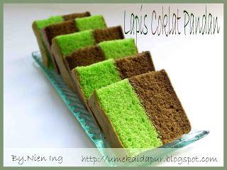 Umek di Dapur: Lapis Coklat Pandan