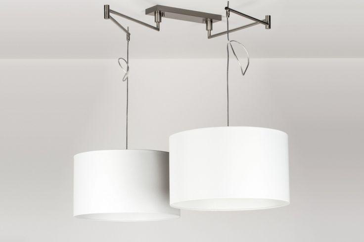Hanglamp 30678: Modern, Eigentijds Klassiek, Landelijk Rustiek, Wit