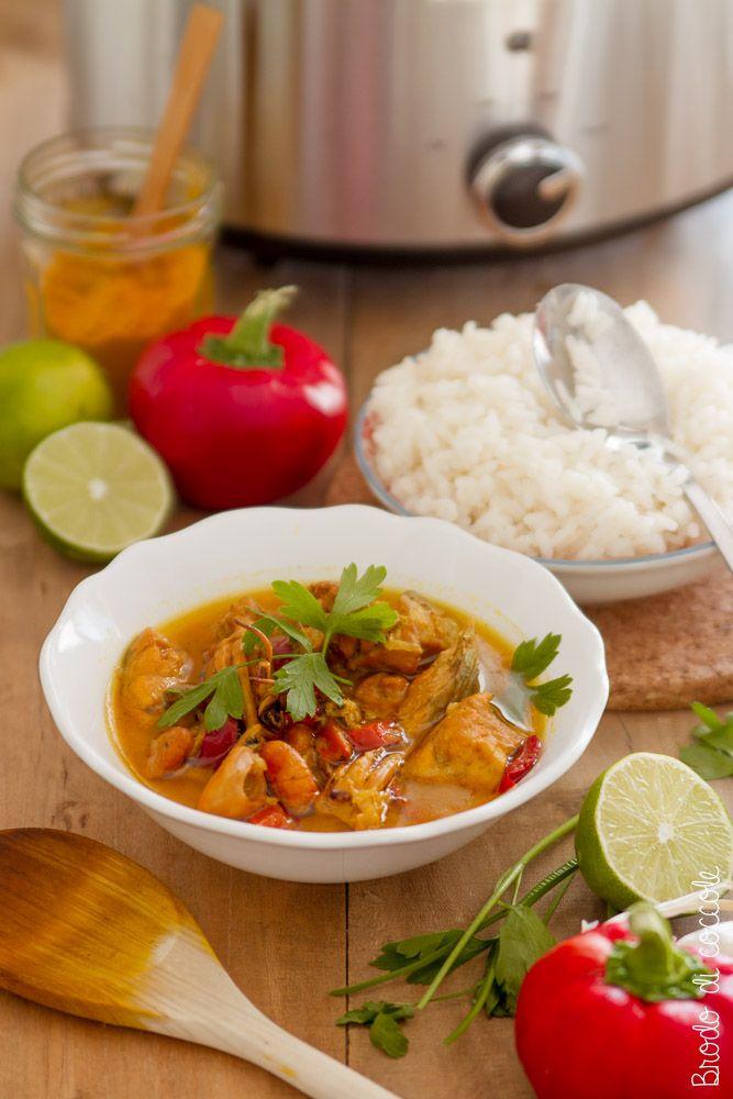 Curry di pesce al cocco con la Crock-pot
