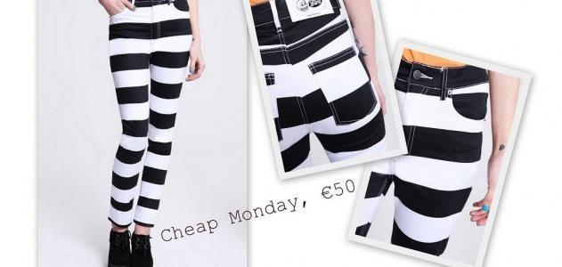 Zwart witte skinny jeans van Cheap Monday