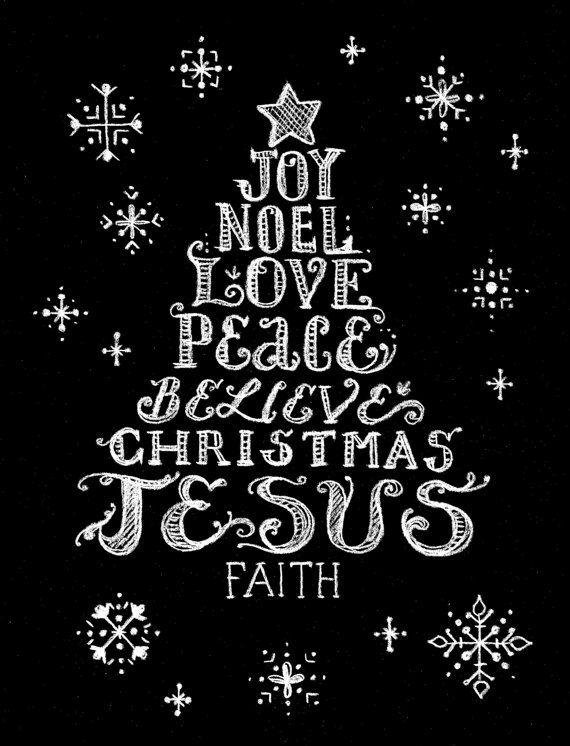 Instant Download Weihnachten Drucken Frohe Weihnachten Jesus Digi-Datei