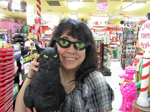 Cat Eye Glasses.
