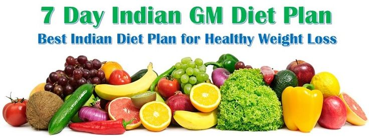 Best Indian GM Diet Plan to Lose Weight – 7 Day Vegetarian Diet Plan for healthy Weight Loss