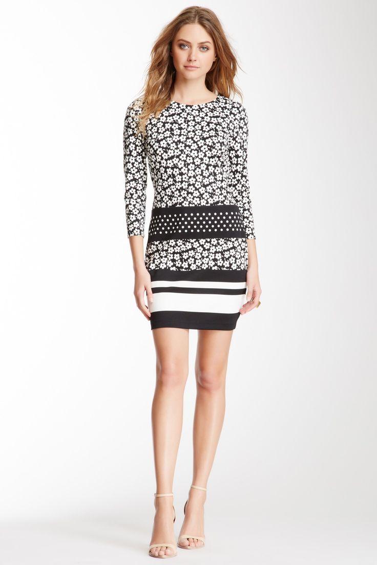 Juicy Couture SALE : Pansy Print Ponte Dress