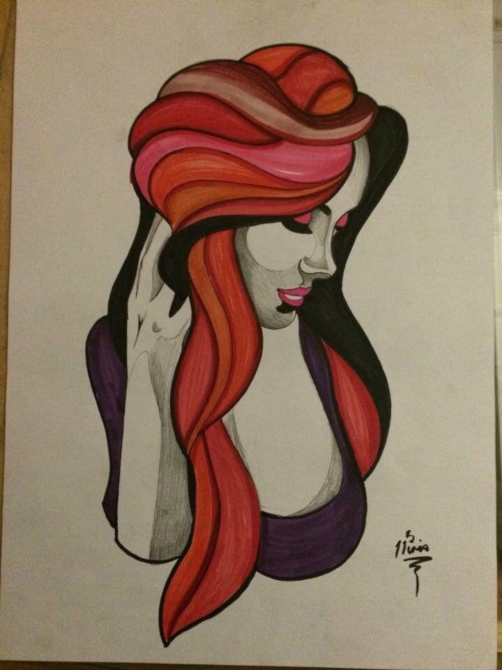 Laya :) #ink #abstractart #art #copicmarkers #derwent