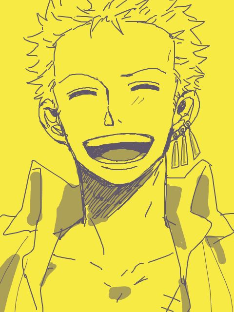 This is one of the best fanarts of Zoro ever - he looks so sweet when he smiles as carefree as this <3