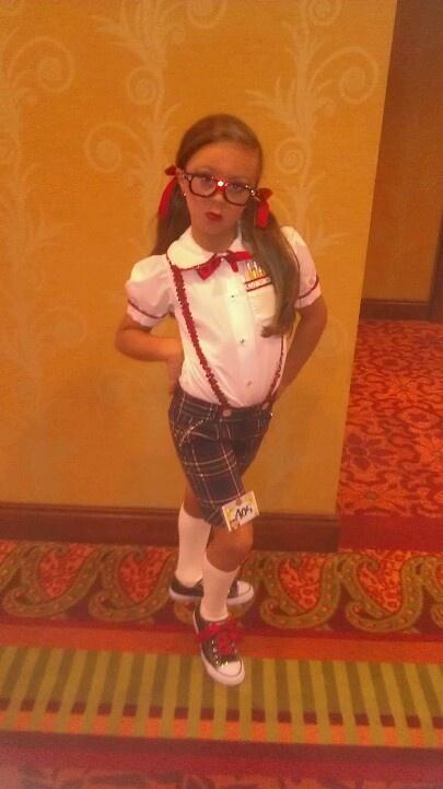Such a cute nerd.  Very inexpensive costume