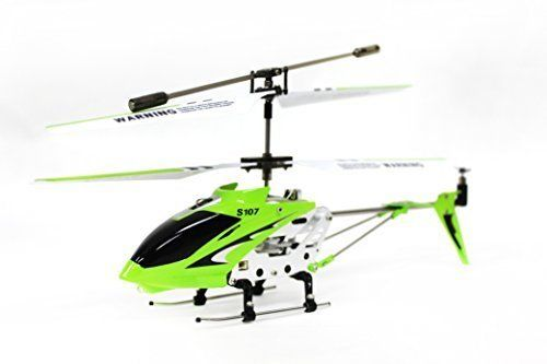 Hobby RC Helicopters - Syma S107G 3 Channel RC Radio Remote Control Helicopter with Gyro  Green *** Read more at the image link.