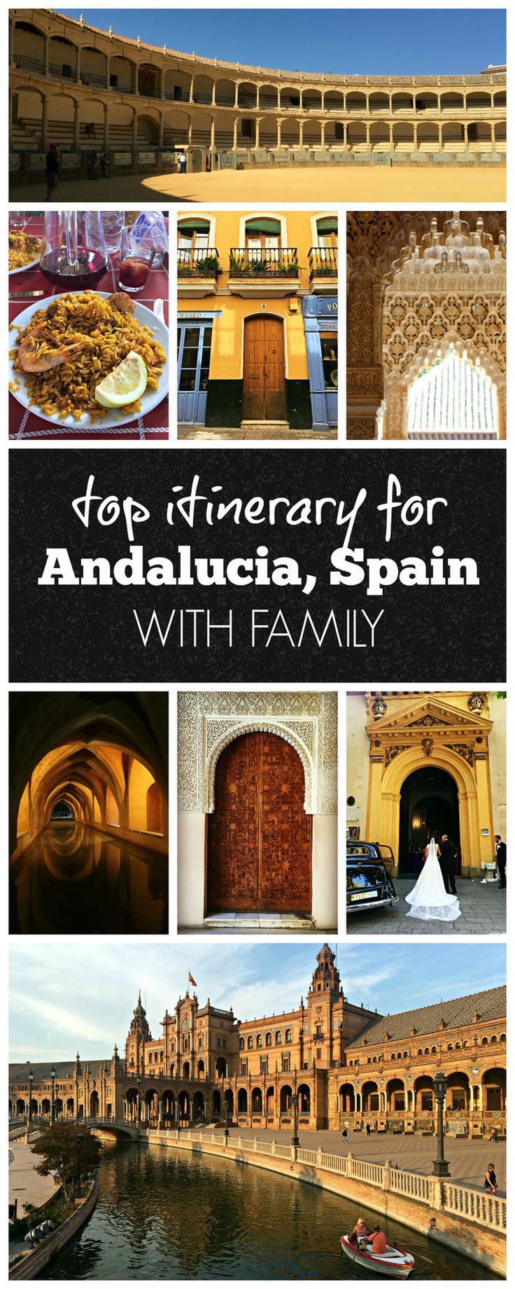 Exploring Andalucia, Spain with family. A look at an eight day itinerary for Sevilla, Cordoba, Ronda, Granada, and Nerja. Celebrating a 50th wedding anniversary with family in southern Spain was a blast!