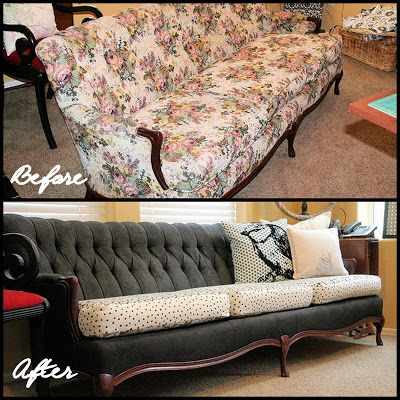 Cowie's Craft & Cooking Corner: Painted Sofa / Couch Makeover