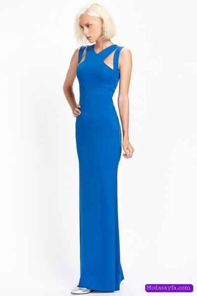 cool Mavi Yazlık Düğün Elbise Modelleri