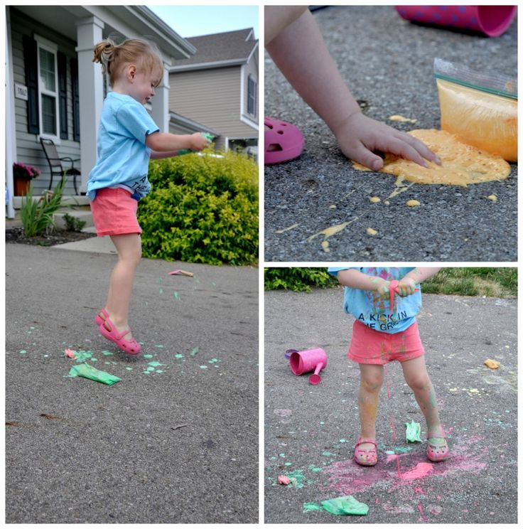 Exploding Chalk Bags – Messy Monday |