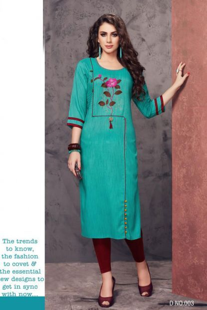 e15af3c11b Wholesale Party Wear Kurti | Wholesale Occasional Festive Wear Embroidered  Rayon Long Length Kurti Collection