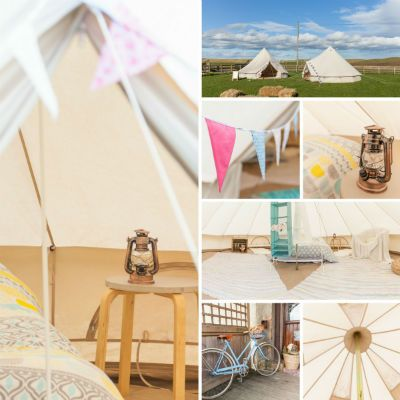 Glamp in a beautiful traditional Bell Tent on the Northumberland coast at Bells of Hemscott.