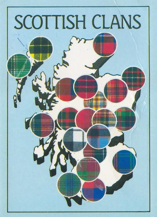 Scottish Clans Map: Baird, MacNeal, MacNab, Campbell, Wilson and Bannetyne.