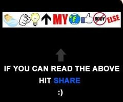 i can read it !