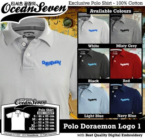 Polo Shirt - Polo Doraemon Logo 1