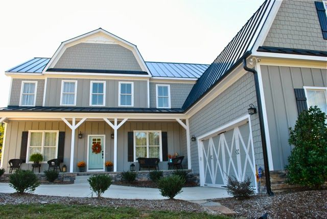 Our Exterior Paint Color Earl Grey And Festoon Aqua For