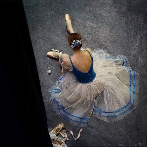 Ballerina in Blue Tipped Tulle