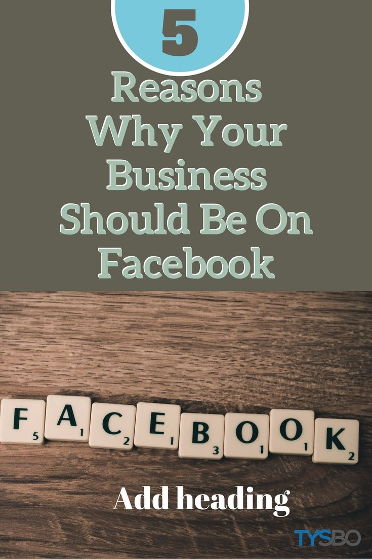 If your business is not yet on Facebook, read on for 5 Great Reasons why your business should be on Facebook #socialmediatips #marketingtips #businessplan #onlinebusiness