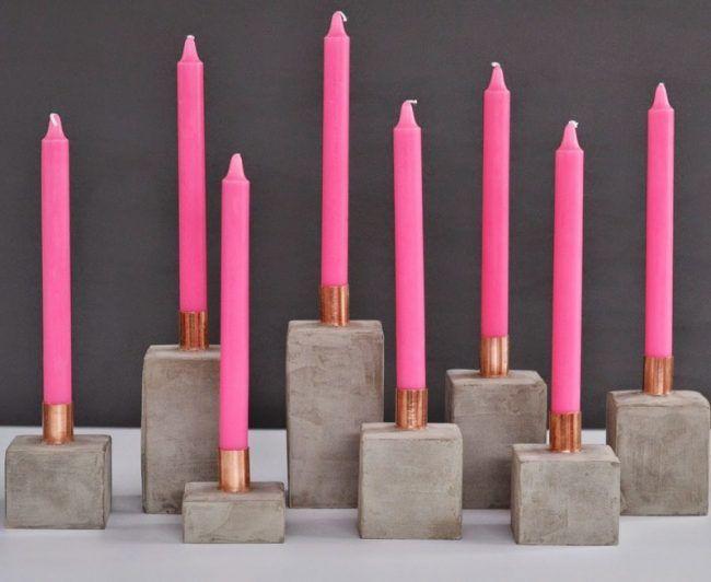 Deko-selber-machen-Beton-Kerzenhalter-rosa-Messing-Detail