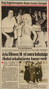 Ayla Dikmen 18 yıl sonra ilkokul arkadaşlarıyla