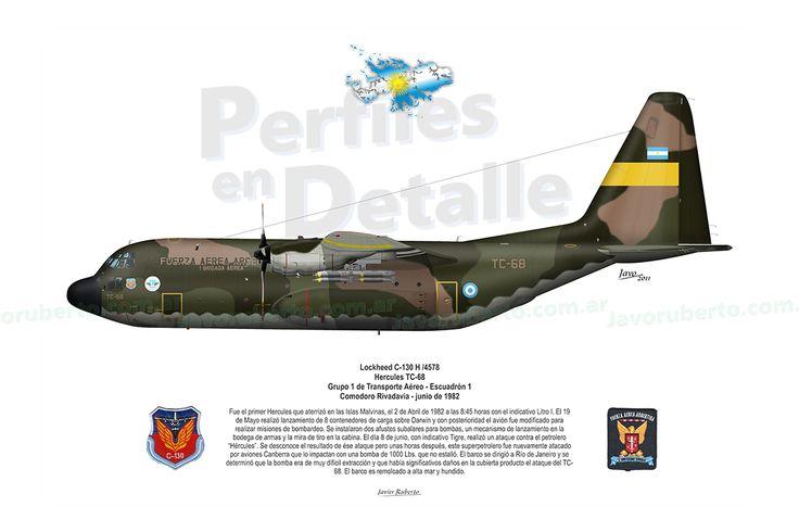 Lockheed C-130 H /4578 Hercules TC-68 Grupo 1 de Transporte Aéreo – Escuadrón 1 Comodoro Rivadavia – junio de 1982