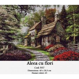 Set goblen - Aleea cu Flori
